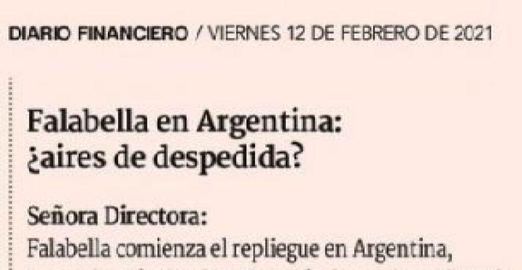 roberto vassolo, falabella en argentina