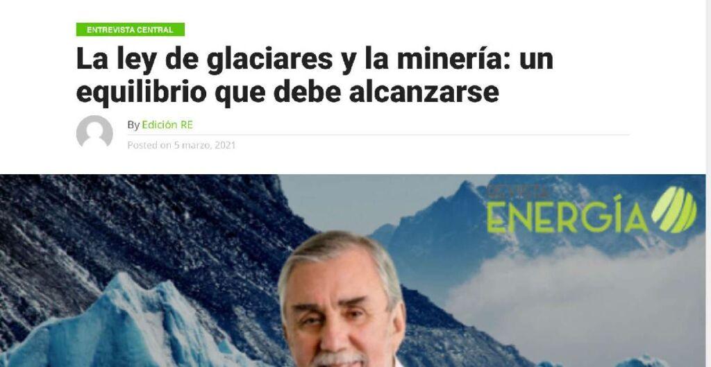Marcos Lima, glaciares minería